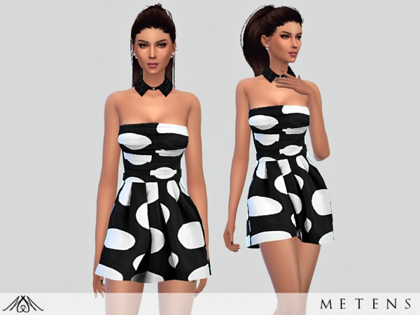 Sims 4 Ambre dress by Metens at TSR