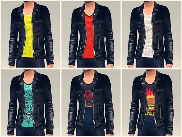Sims 4 Rocker Jacket by doumeki at TSR