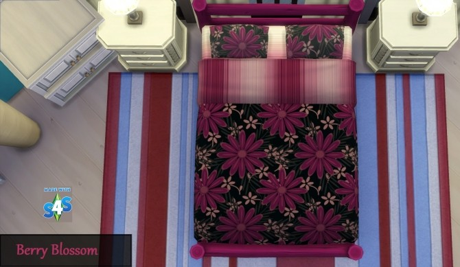 Sims 4 GP01 16 Mixed Bedcover Designs by wendy35pearly at Mod The Sims