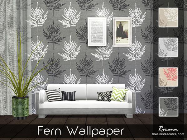 Fern Wallpaper by Rirann at TSR image 606 Sims 4 Updates
