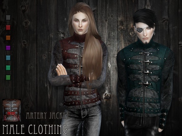 Sims 4 Artery jacket by RemusSirion at TSR