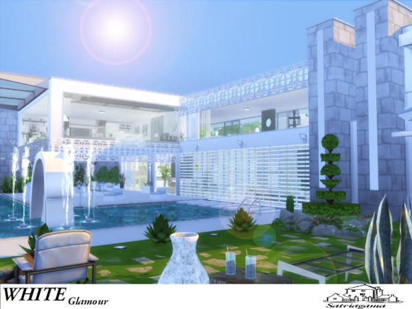 White Glamour house by satriagama at TSR image 6117 Sims 4 Updates