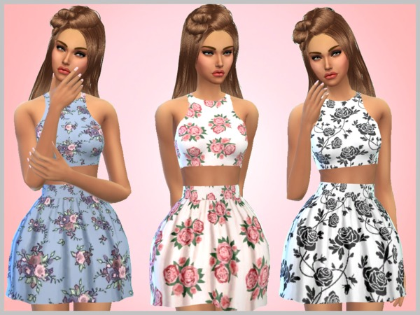 Sims 4 Floral Dresses by SweetDreamsZzzzz at TSR