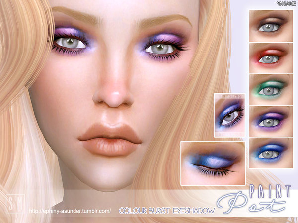 Sims 4 Paint Pot Colour Burst Eyeshadow by Screaming Mustard at TSR
