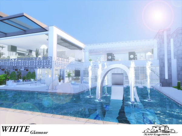 White Glamour house by satriagama at TSR image 6215 Sims 4 Updates