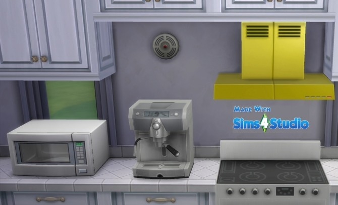 Sims 4 Wall Mounted Stove Hood 17 Colours by wendy35pearly at Mod The Sims
