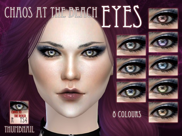 Sims 4 Chaos at the beach eyes by RemusSirion at TSR