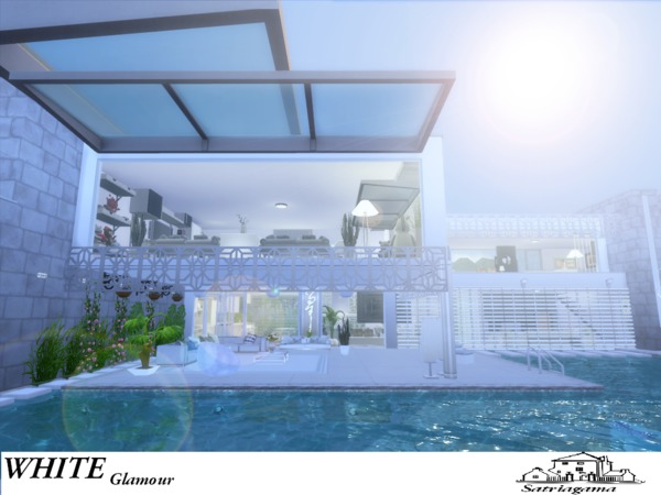 White Glamour house by satriagama at TSR image 6314 Sims 4 Updates
