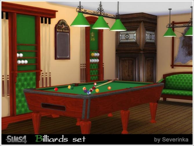 Billiard Set At Sims By Severinka 187 Sims 4 Updates