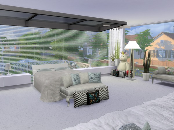 White Glamour house by satriagama at TSR image 6413 Sims 4 Updates