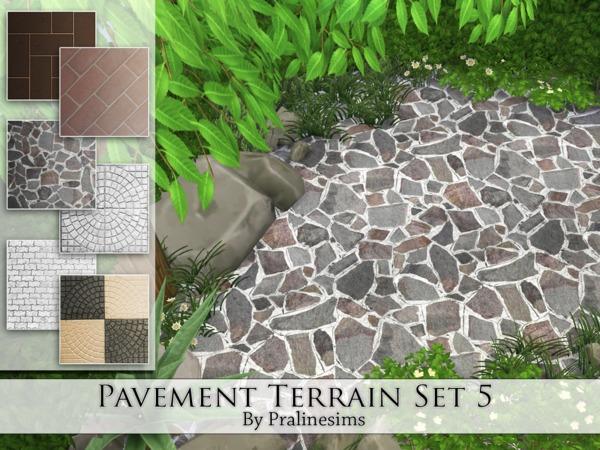 Sims 4 Pavement Terrain Set 5 by Pralinesims at TSR