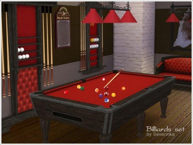 Sims 4 Billiard set at Sims by Severinka