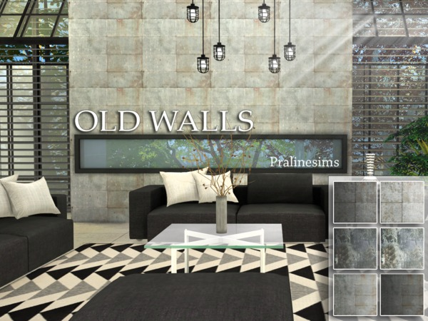 Old Walls by Pralinesims at TSR image 680 Sims 4 Updates