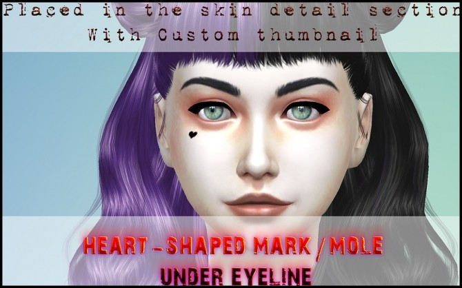 Heart shaped mark in the face by Druga at Mod The Sims image 6911 670x418 Sims 4 Updates