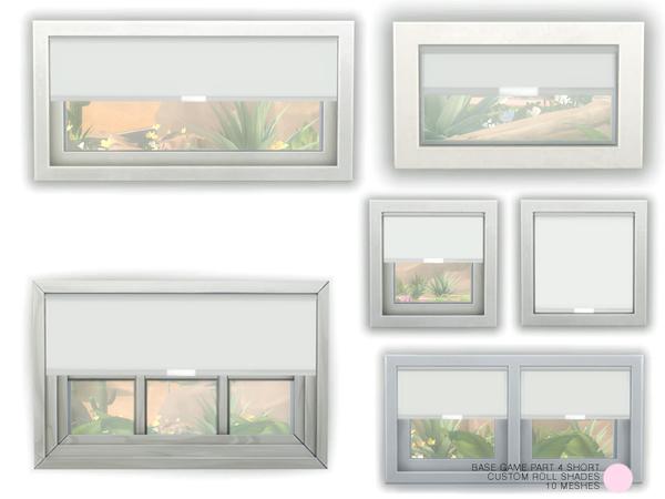 Custom Roll Shade Set Part 4 Short by DOT at TSR image 695 Sims 4 Updates