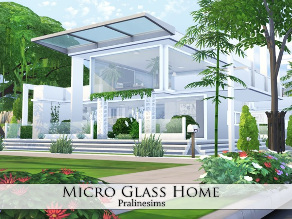 Micro glass home by pralinesims at tsr sims 4 updates - The sims 3 case moderne ...