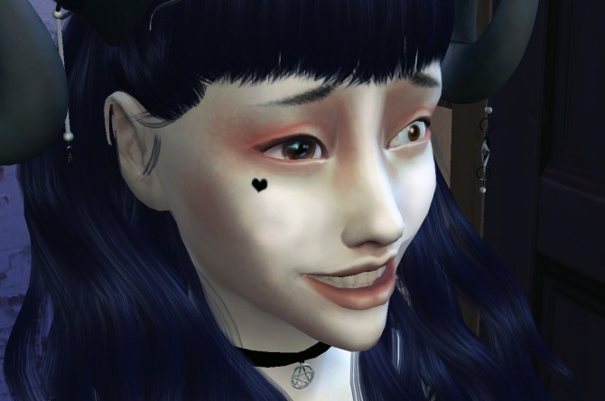 Sims 4 Heart shaped mark in the face by Druga at Mod The Sims