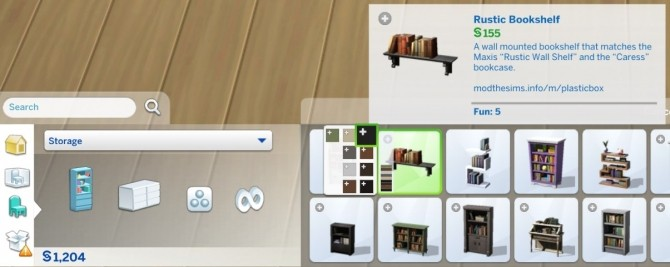 Rustic Wall Bookshelf by plasticbox at Mod The Sims image 714 670x267 Sims 4 Updates