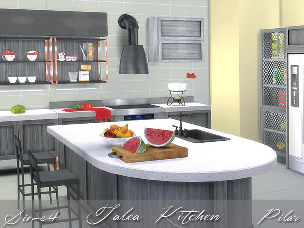 Talea kitchen by pilar at tsr sims 4 updates for Sims 2 kitchen ideas