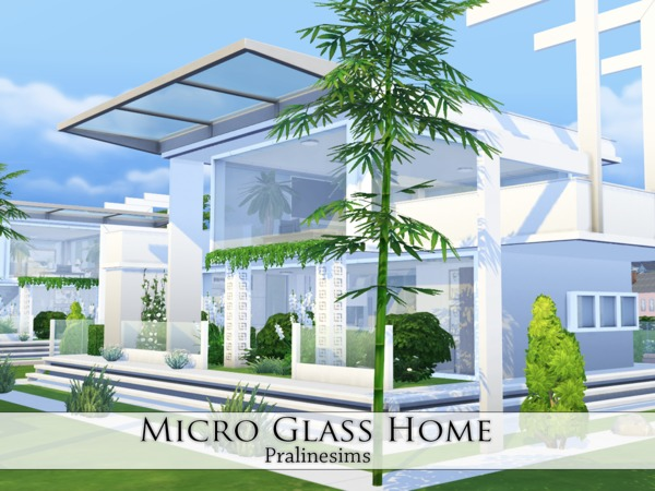 Micro Glass Home by Pralinesims at TSR image 7410 Sims 4 Updates