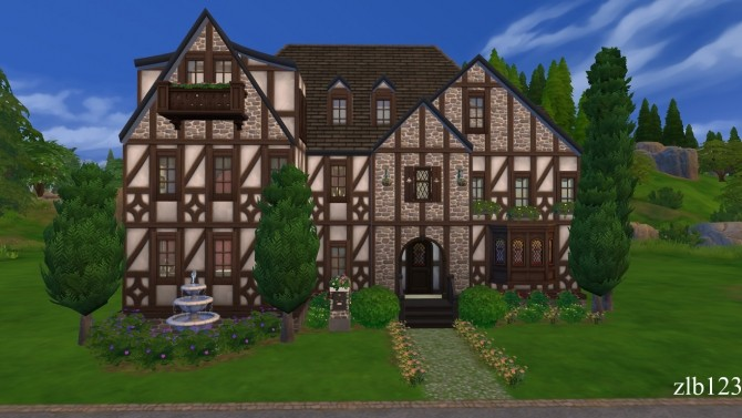 Two Story Tudor (CC Free) by zlb123 at Mod The Sims image 744 670x377 Sims 4 Updates