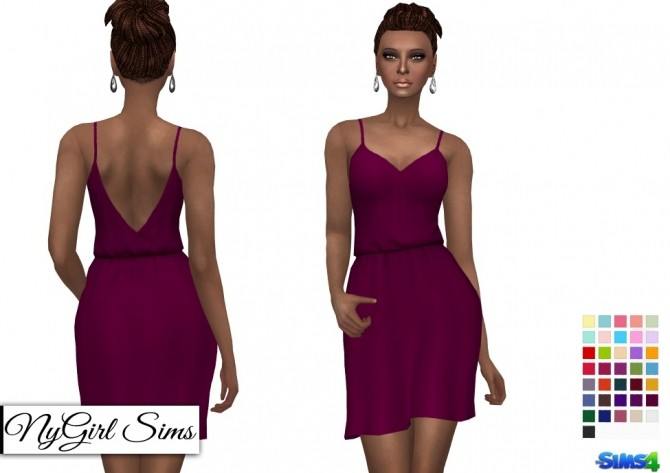 Sims 4 Gathered Waist Sundress with Pockets at NyGirl Sims