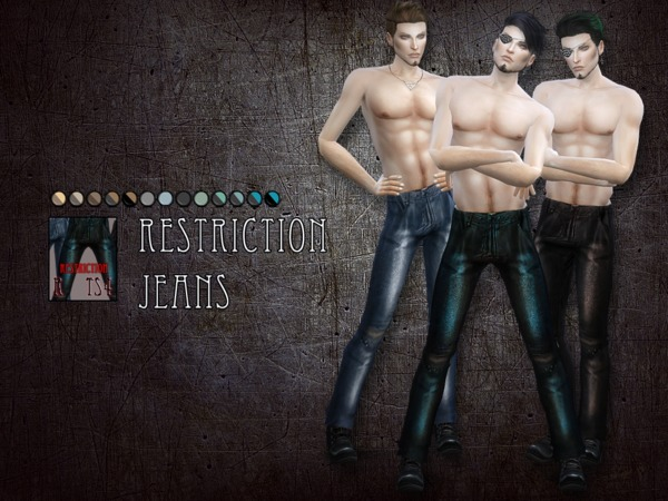 Sims 4 Restriction jeans by RemusSirion at TSR
