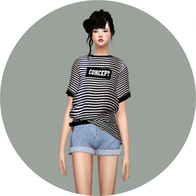 Free Boxy Tee at Marigold image 77 670x670 Sims 4 Updates