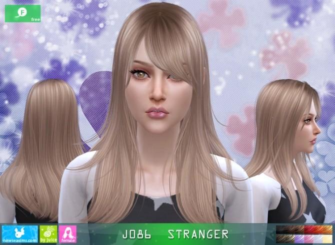 Sims 4 J086 Stranger hair (FREE) at Newsea Sims 4