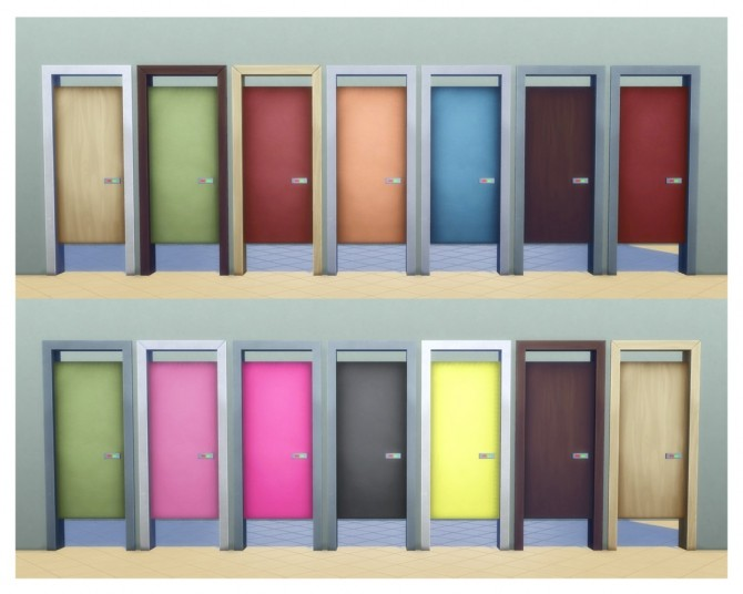 Simple Toilet Stall Door by Menaceman44 at Mod The Sims image 7713 670x536 Sims 4 Updates