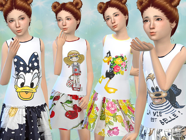 Sims 4 Cute Summer Dresses by Fritzie.Lein at TSR