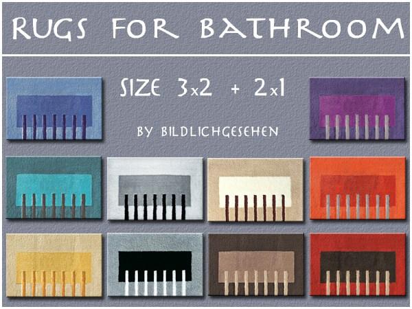 Rugs for Bathroom by Bildlichgesehen at Akisima image 786 Sims 4 Updates
