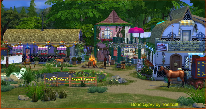 Boho Gypsy Lot At Tanitas8 Sims 187 Sims 4 Updates