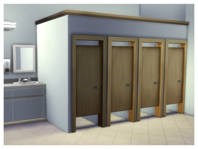 Simple Toilet Stall Door by Menaceman44 at Mod The Sims image 7914 670x505 Sims 4 Updates
