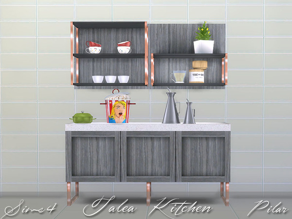 Sims 4 Talea kitchen by Pilar at TSR