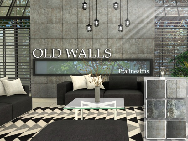 Old Walls by Pralinesims at TSR image 880 Sims 4 Updates