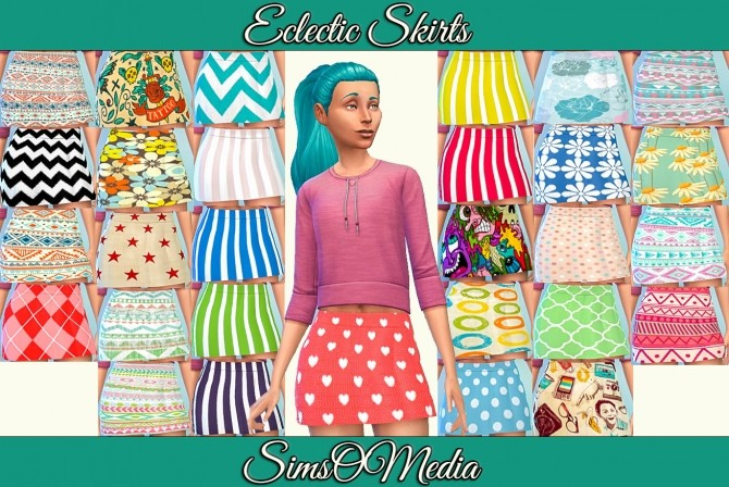 Eclectic Skirts by SimsOMedia at SimsWorkshop image 89 670x448 Sims 4 Updates