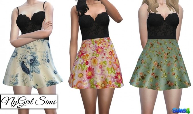 Lace Corset Flare Dress at NyGirl Sims image 897 670x396 Sims 4 Updates