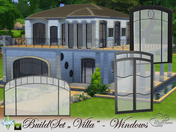 Build A Villa Windows and Doors by BuffSumm at TSR image 9 Sims 4 Updates