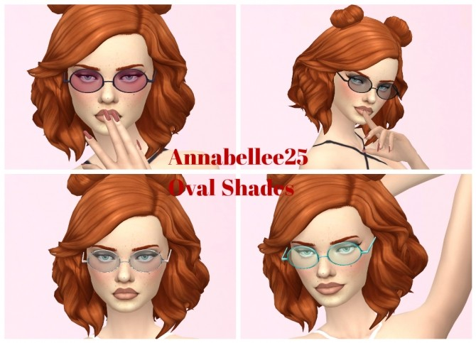 Oval Shades by Annabellee25 at SimsWorkshop image 91 670x483 Sims 4 Updates