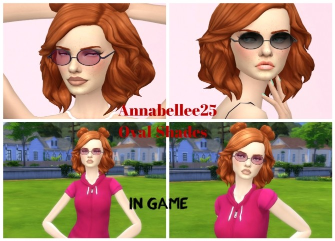 Oval Shades by Annabellee25 at SimsWorkshop image 92 670x483 Sims 4 Updates