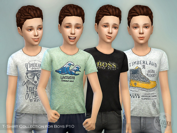Sims 4 T Shirt Collection for Boys P10 by lillka at TSR