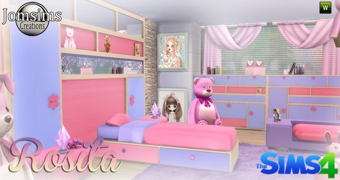 Sims 4 Rosita bedroom at Jomsims Creations