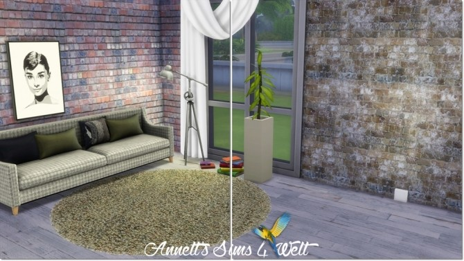 Sims 4 Old Stone Walls at Annett's Sims 4 Welt