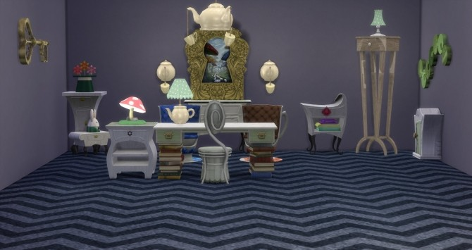 Sims 4 Through the Spy Glass Set Conversion by DollFaceSim at SimsWorkshop