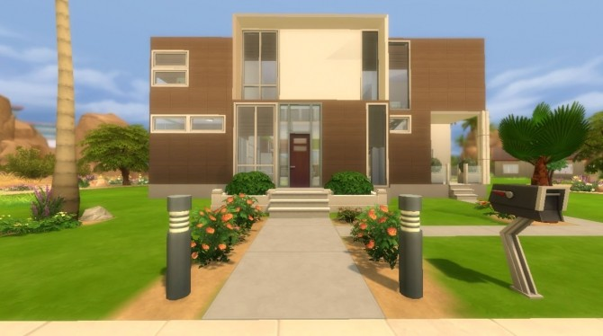 Wood Modern house CC Free by Evairance at Mod The Sims image 966 670x374 Sims 4 Updates
