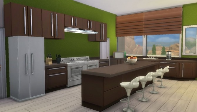 Wood Modern house CC Free by Evairance at Mod The Sims image 976 670x380 Sims 4 Updates