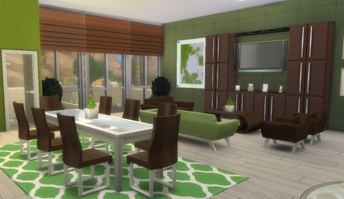 Wood Modern house CC Free by Evairance at Mod The Sims image 995 670x388 Sims 4 Updates