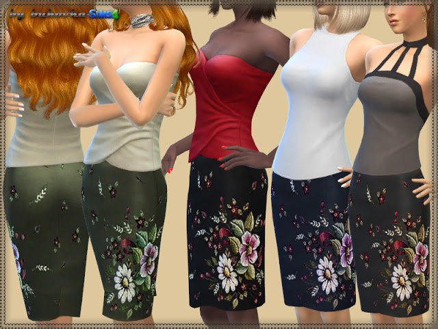 Skirt & Floral Embroidered at Bukovka image 1002 Sims 4 Updates