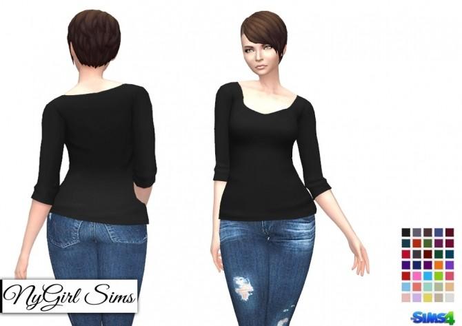 Three Quarter Sleeve Tee at NyGirl Sims image 1007 670x473 Sims 4 Updates